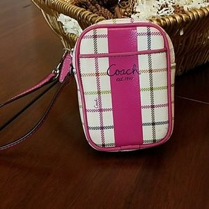 Coach Wristlet/Cosmetic Bag